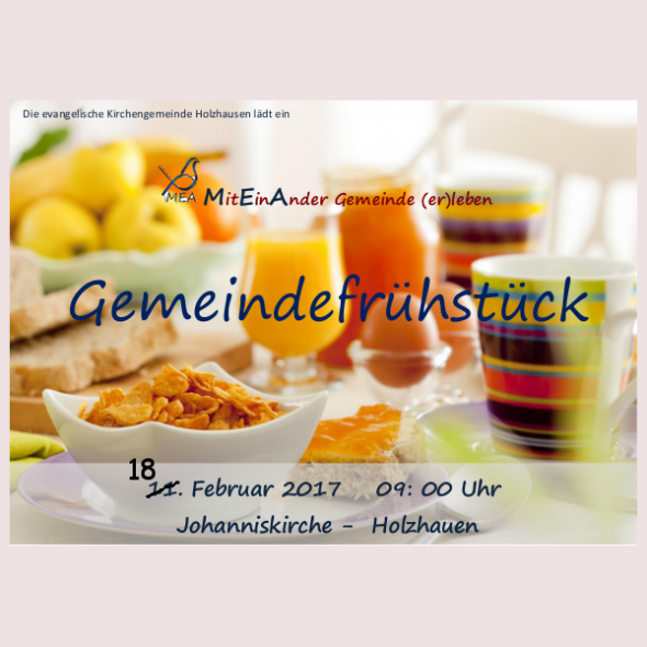 Gemeindefrühstück neuer Termin