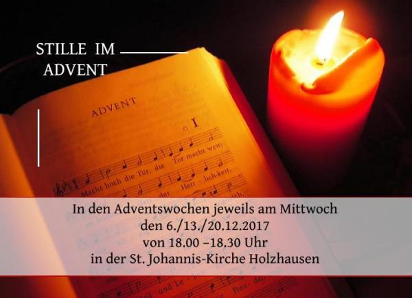 Stille im Advent 2017
