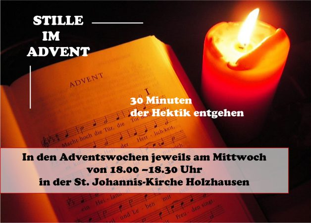 Flyer: Stille im Advent
